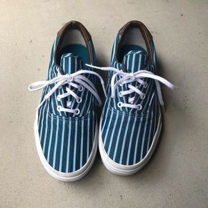 Blue Striped Vans